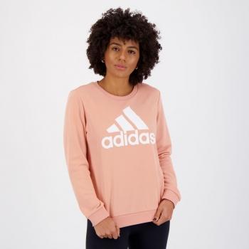 Moletom Adidas Essentials Relaxed Feminino Rosa