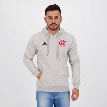 Moletom Adidas Flamengo Viagem 2021 Cinza