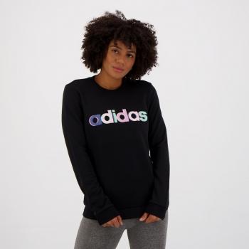 Moletom Adidas Linear Graphic Feminino Preto