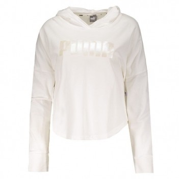 Moletom Cropped Puma Light Hoody Branco
