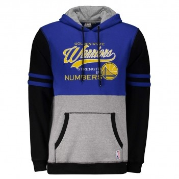 Moletom NBA Golden State Warriors Azul e Cinza