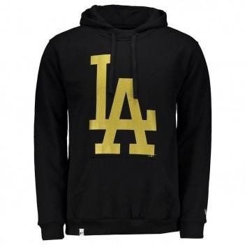 Moletom New Era MLB Los Angeles Dodgers Preto e Dourado