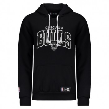 Moletom New Era NBA Chicago Bulls Preto e Branco