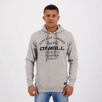 Moletom O'Neill Stay Out Cinza Mescla