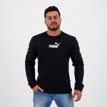 Moletom Puma Amplified Crew FL Preto