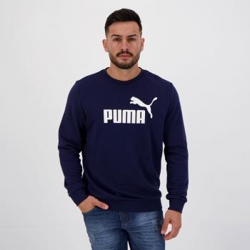 Moletom Puma Ess Big Logo Crew TR Marinho