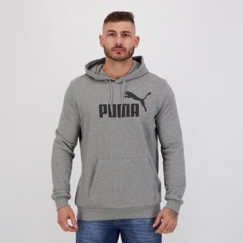 Moletom Puma Ess Big Logo Hoody Cinza