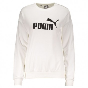 Moletom Puma Logo Crew Sweat TR Branco