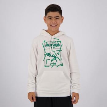 Moletom Puma Palmeiras Graphic Hoody Juvenil Branco e Verde