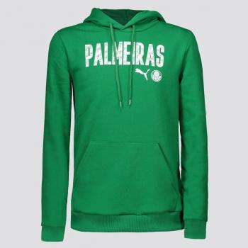 Moletom Puma Palmeiras Wording Hoody Juvenil Verde