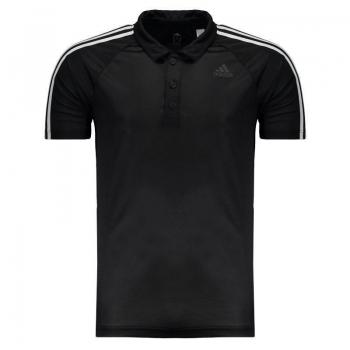 Polo Adidas D2m 3 Stripes Preta