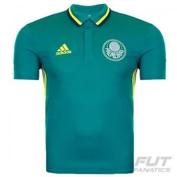 Polo Adidas Palmeiras Viagem 2016 Verde