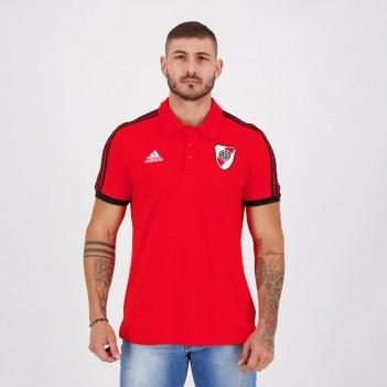 Polo Adidas River Plate 3S Vermelha