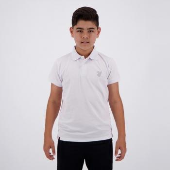 Polo Athletico Paranaense Infantil Branca e Prata