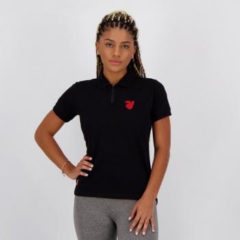 Polo Athletico Paranaense Modern II Feminina Preta