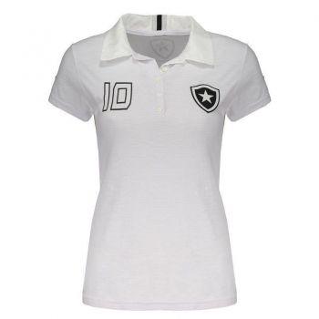 Polo Botafogo Feminina Branca