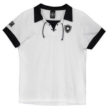 Polo Botafogo Retrô Juvenil Branca