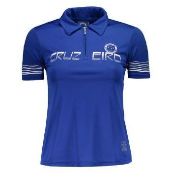 Polo Cruzeiro Feminina Azul