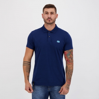 Polo Ecko 72 Basic Azul Mescla