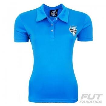 Polo Grêmio Mash Feminina Azul