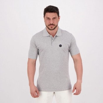 Polo HD Basic Fit Cinza Mescla