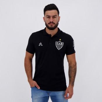 Polo Le Coq Sportif Atlético Mineiro Viagem 2020 Preta