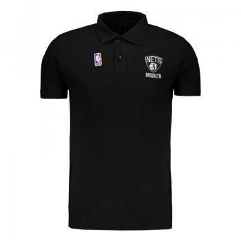 Polo NBA Brooklyn Nets Preta