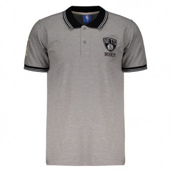 Polo NBA Piquet Brooklyn Nets 17 Mescla