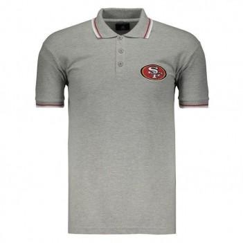 Polo New Era NFL San Francisco 49ers Cinza