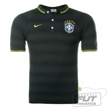 Polo Nike Brasil CBF League Authentic Verde