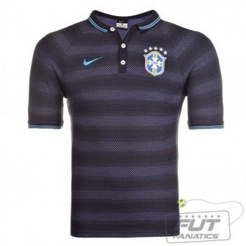 Polo Nike Brasil CBF League Authentic Marinho