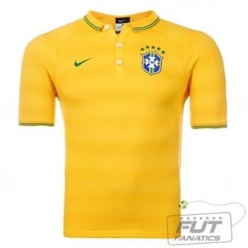 Polo Nike Brasil CBF League Authentic Amarela