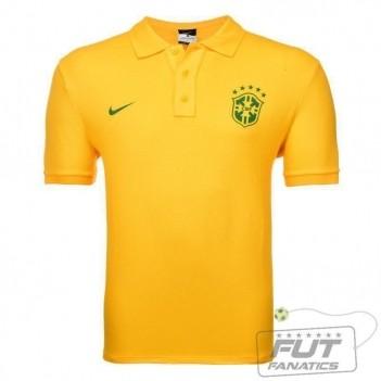 Polo Nike Brasil Matchup Core 2014 Amarela