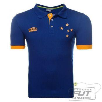 Polo Olympikus Cruzeiro Casual Azul