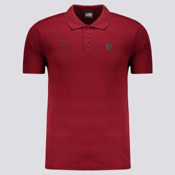 Polo Puma Scuderia Ferrari Striped Vinho