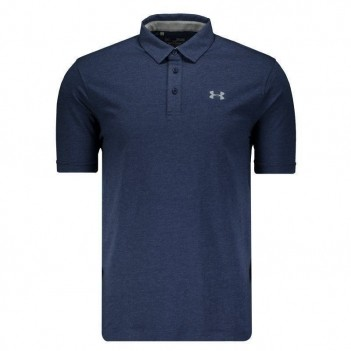 Polo Under Armour Charged Cotton Scramble Azul