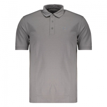 Polo Under Armour Charged Cotton Scramble Cinza