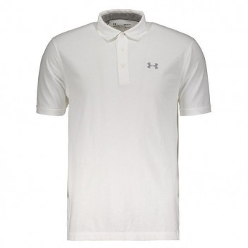 Polo Under Armour Charged Cotton Scramble Branca