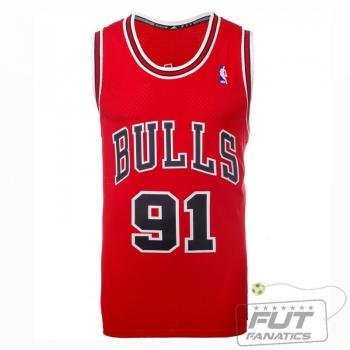 Regata Adidas NBA Chicago Bulls 91 Rodman Classics Vermelha