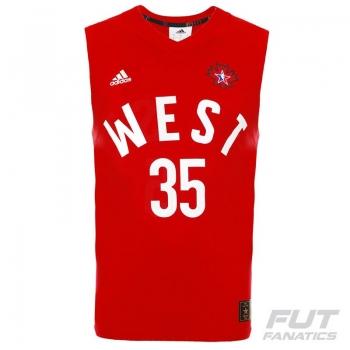 Regata Adidas NBA All Star West 35 Durant Vermelha