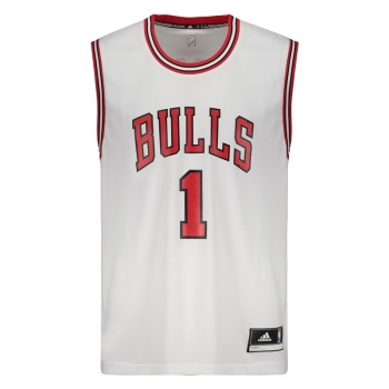 Regata Adidas NBA Chicago Bulls Home 2016 1 Rose