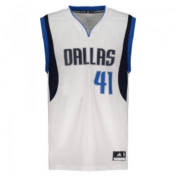 Regata Adidas NBA Dallas Mavericks Home 2015 41 Nowitzki