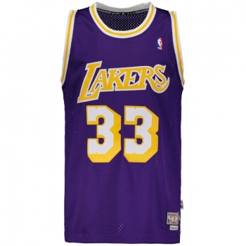 Regata Adidas NBA LA Lakers Road 33 Jabbar Retired