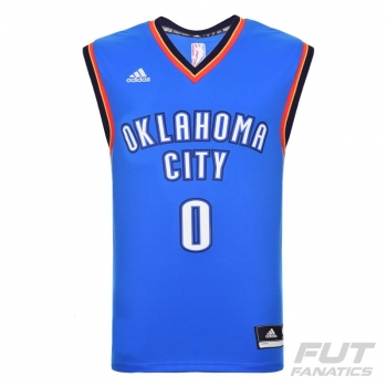 Regata Adidas NBA OKC Thunder Road 2016 0 Westbrook