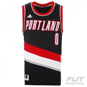 Regata Adidas NBA Portland Trail Blazers 0 Lillard Swingman