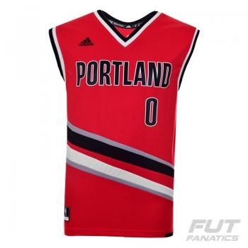 Regata Adidas NBA Portland Trail Blazers Alternate 2016 0 Lillard