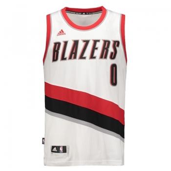 Regata Adidas NBA Portland Trail Blazers Home 2016 0 Lillard Swingman