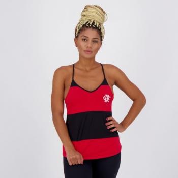 Regata Flamengo Mass Feminina Preta e Vermelha