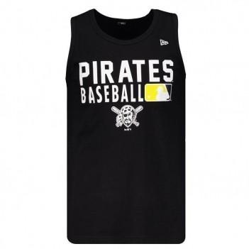 Regata New Era MLB Pittsburgh Pirates Preta e Branca