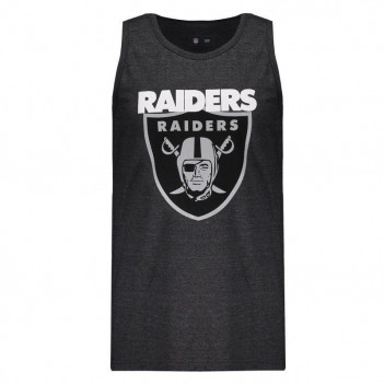 Regata New Era NFL Oakland Raiders Preta Mescla